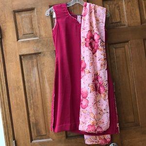 Dresses & Skirts - Floral Indian Suit (Churidar Set)
